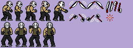 NES Friday the 13th Jason Sprites (Mortal Kombat X colours)