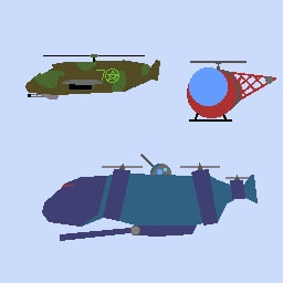 Helicopters.