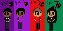 Kyle,Keron,Chris(me) and jaima