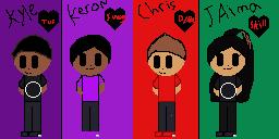 Kyle,Keron,Chris(me) and jaima