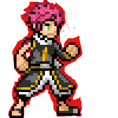 NATSU PIXEL ART BY ME COMPLETELY FINISHED