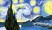 starry night  proceso